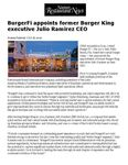 BurgerFi appoints former Burger King executive Julio Ramirez CEO