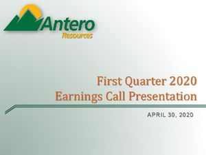 First Quarter 2020 Earnings Call