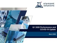 Q1 2020 Performance and COVID-19 Update
