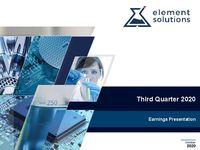 2020 Third Quarter Financial Results Call
