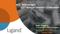 H.C. Wainwright 22nd Annual Investor Conference Presentation