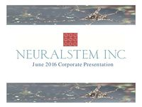 June 2016 Corporate Presentation
