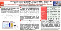 International Multicenter Study of Accidental Dural Puncture Rate; Comparison of the CompuFlo with Traditional Method<br>ANESTHESIOLOGY® 2019 Annual Meeting in Orlando, Florida