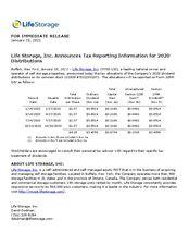 2020 Dividend Tax Treatment
