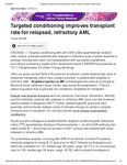 """Actinium in Healio's HemOnc Today article """"Targeted Conditioning improves transplant rate for relapsed, refractory AML"""""""