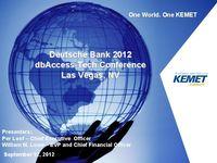 Deutche Bank db AccessTechnology Conference - Slides