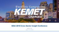Stifel 2018 Cross Sector Insight Conference - Slides