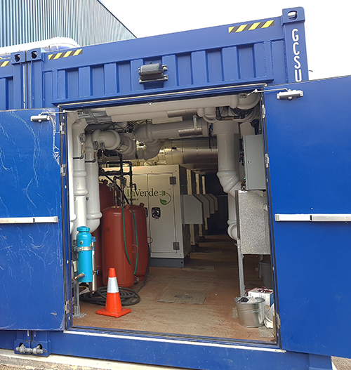 Microgrid Enabled Containerized CHP