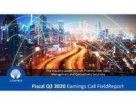 Fiscal Q3 2020 Earnings Call FieldReport