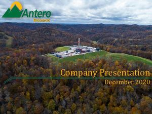 Antero Resources Company Presentation - December 2020