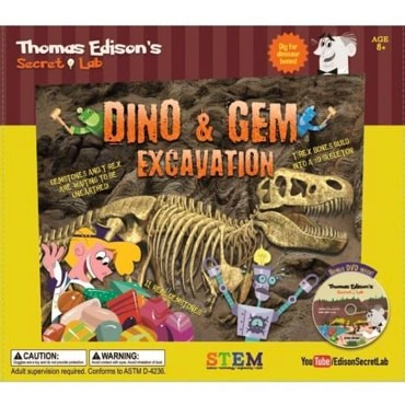 Edison's Lab Dino and Gem Excavation Kit