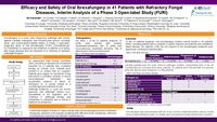 Efficacy and Safety of Oral Ibrexafungerp in 41 Patients with Refractory Fungal Diseases, Interim Analysis of a Phase 3 Open-label Study (FURI)