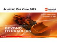 Sun Hydraulics Corporation September 2017 Investor & Analyst Day Presentation
