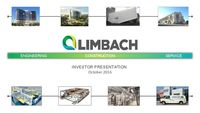 Investor Presentation, October 2016