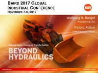 Sun Hydraulics Corporation Baird 2017 Global Industrial Conference Presentation