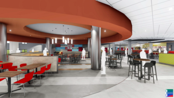 A picture of Temple University Valaida S. Walker Dining Court in Student Center