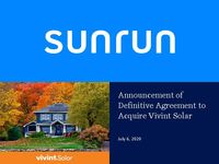 Announcement of Definitive Agreement to Acquire Vivint Solar