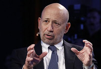 Goldman CEO keeps open mind on digital currency bitcoin
