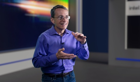 Pat Gelsinger, CEO of Intel Corporation, speaks during a virtual presentation as part of the