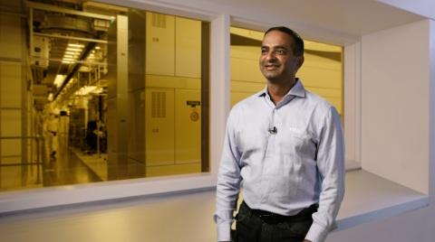Sanjay Natarajan, senior vice president in Technology Development at Intel Corporation, speaks during a virtual presentation as part of the