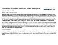 Brinks Home Amendment Projections