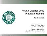 Fourth Quarter 2019 Financial Results