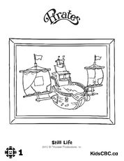 Pirate Ship and more coloring book