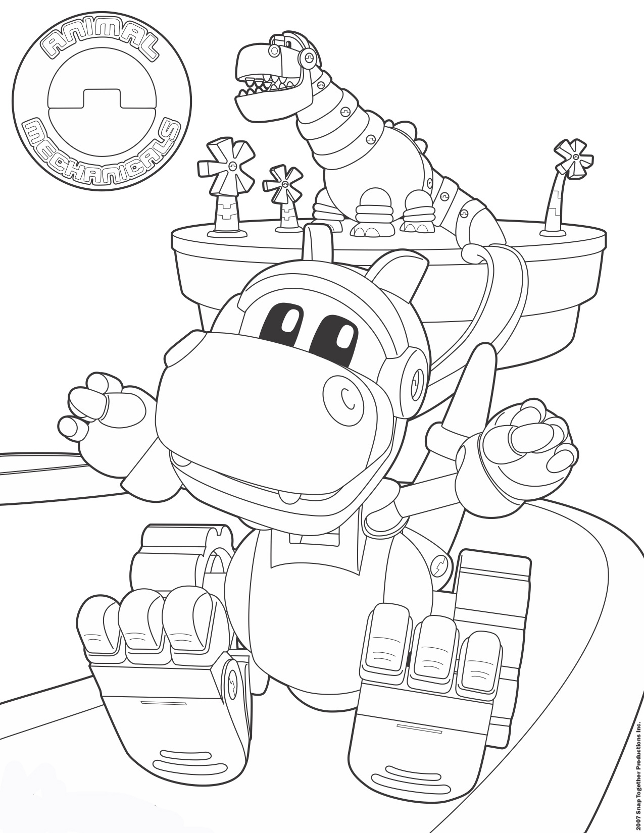 animal mechanicals coloring pages Animal Mechanicals :: Kid Genius animal mechanicals coloring pages
