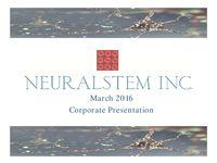 March 2016 Corporate Presentation