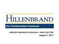 Jefferies Industrial Conference