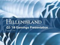 Third Quarter 2018 Earnings Conference Call
