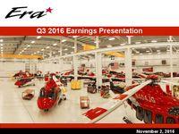 Apresentação dos lucros, 3º trimestre de 2016