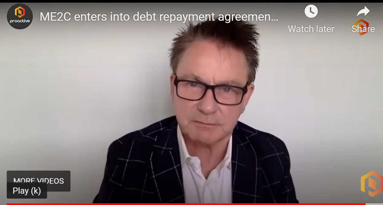 ME2C Enters into Debt Repayment Agreement That...