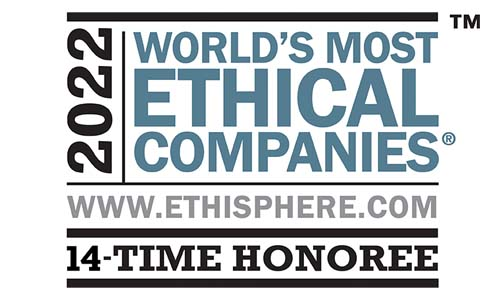 Recognized by the Ethisphere Institute as one of the World's Most Ethical Companies® for the 13th time.