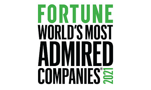 Named a leader in corporate reputation among Financial Data Services Companies by Fortune® Magazine for 2021.