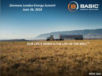 Simmons London Energy Summit Presentation