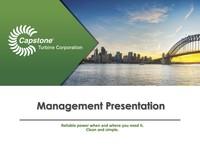 Management Presentation - October 2016