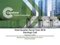 Q3 FY2018 Capstone Turbine Corporation Earnings Presentation