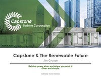 """alphaDIRECT Virtual Conference Series, on """"Capstone and The Renewable Future,"""" Featuring James """"Jim"""" Crouse, Capstone's Chief Revenue Officer"""