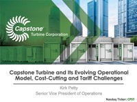 alphaDIRECT Virtual Conference:  Capstone Turbine Corporation and its Evolving Operational Model, Cost-Cutting and Tariff Challenges