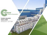 Q4 FY2020 Capstone Turbine Corporation Earnings Presentation