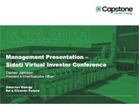 Sidoti & Company Virtual Conference