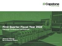 Q1 FY2022 Capstone Turbine Corporation Earnings Presentation