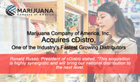 Marijuana Company of America, Inc. Acquires cDistro, One of the Industry's Fastest Growing Distributors