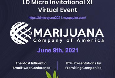 Marijuana Company of America, Inc. to Present at the LD Micro Invitational XI Conference