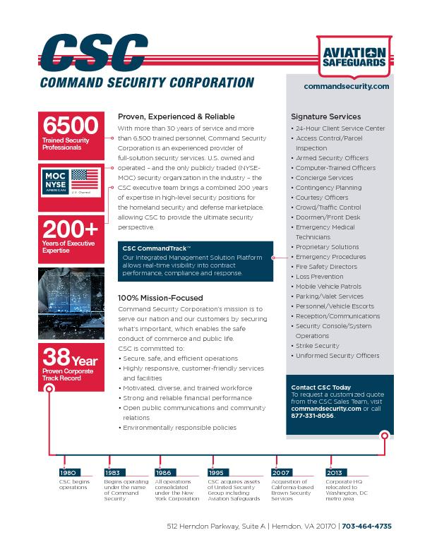 CSC Distribution and Logistics Security Services