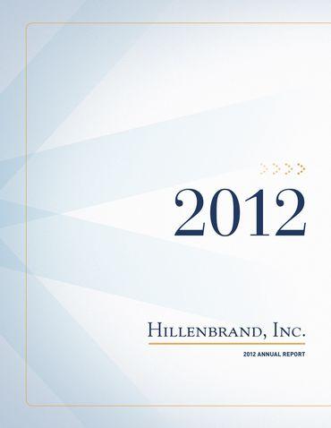 Hillenbrand, Inc. 2012 Annual Report Thumbnail