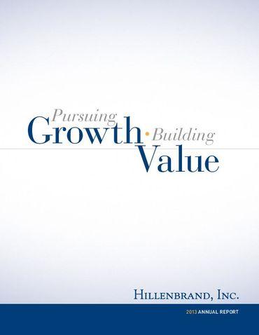Hillenbrand, Inc. 2013 Annual Report Thumbnail