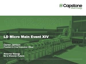 Capstone Green Energy Corporation Investor Presentation