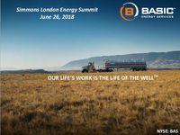 Simmons London Energy Summit Presentation
